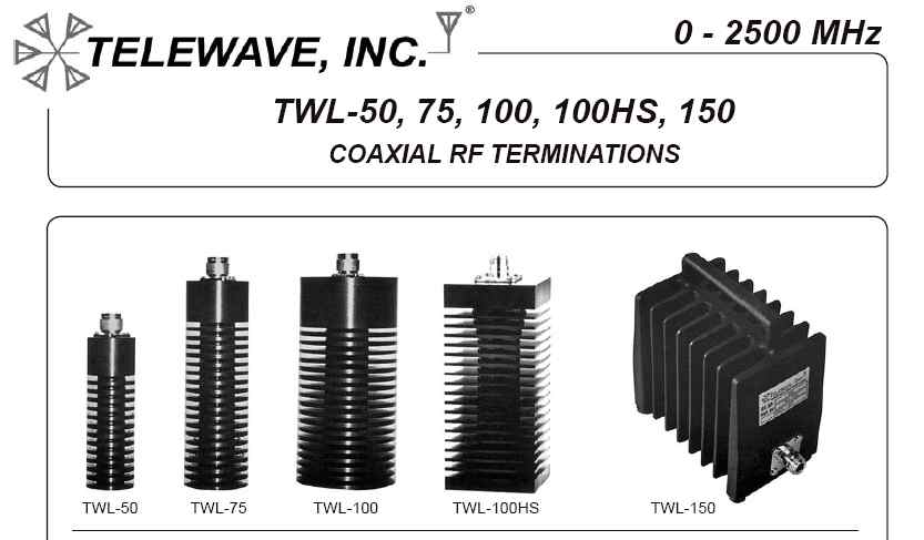 The RF Shop Telewave RF Loads