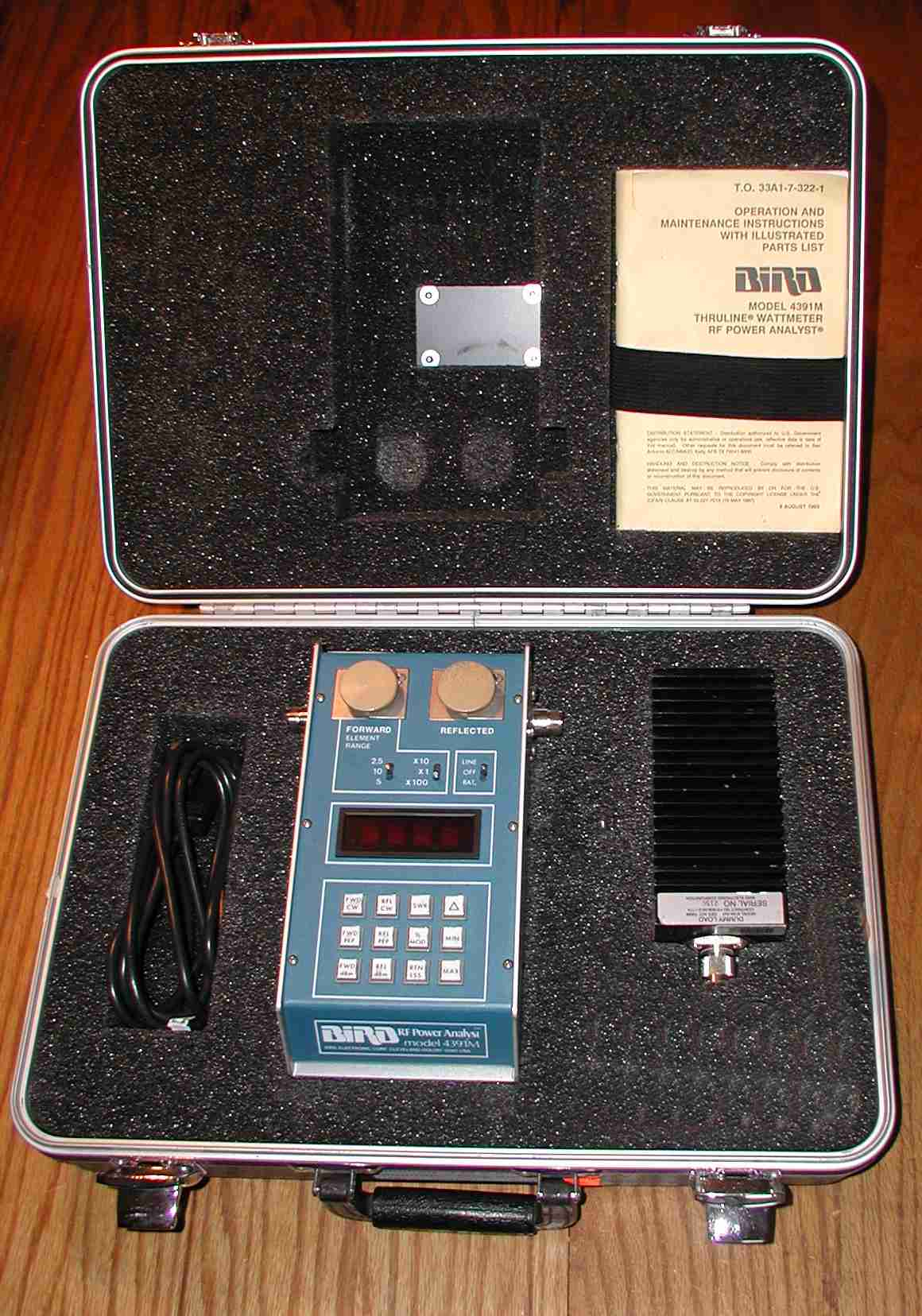 Digital Rf Power Meters : Bird electronic rf wattmeters loads attenuators