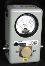Bird 4314B 4314C Peak Read Wattmeter (Used)PEP CW AM FM PulseFront Panel Switch and LED - Product Image